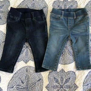 Baby gap Jegging legging jeans- 2 pairs